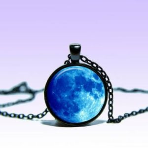 ~ Mystic Blue Moon Pendant ~